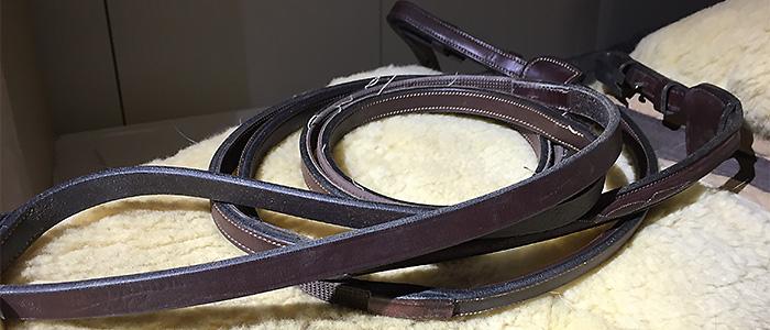Dyon gummi/läder tygel