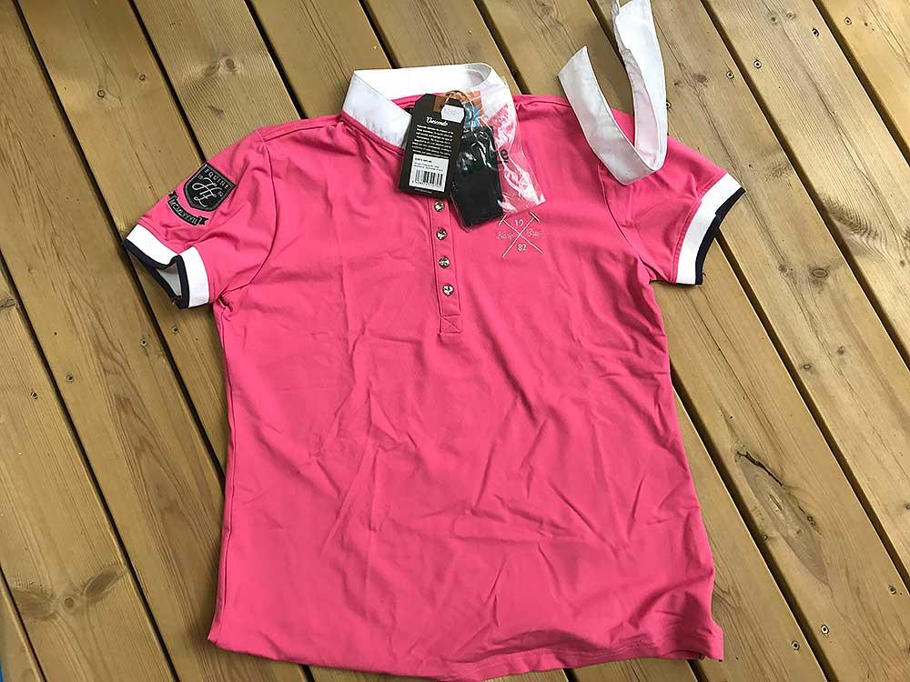 Tävlingströja rosa med bling NY